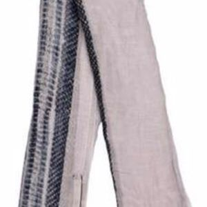Barbara Bui Cream and Gray Snakeskin Print Scarf